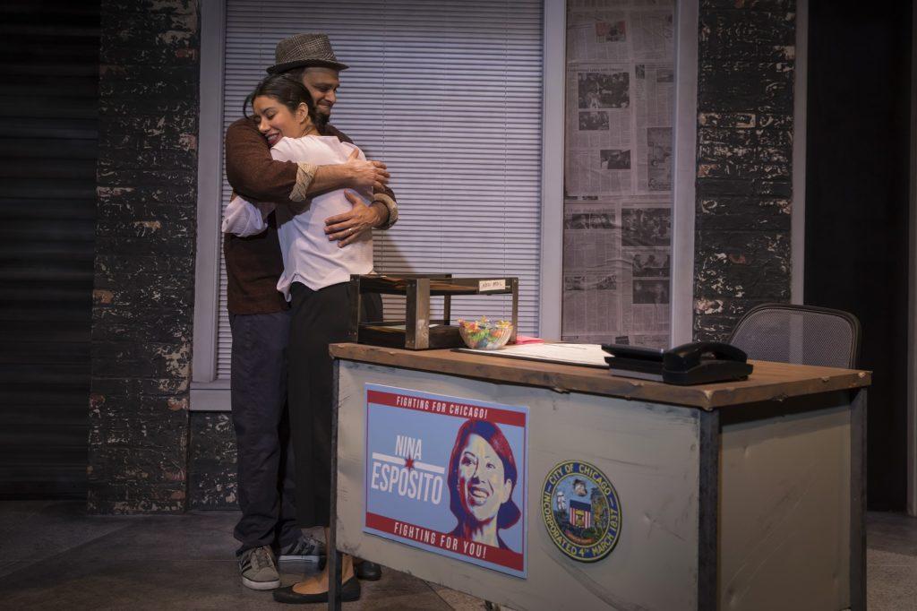 Anish Jethmalani and Monica Orozco embracing