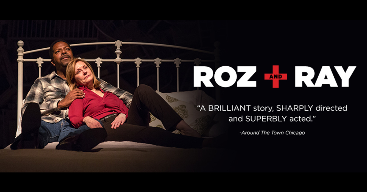 "A couple lying in bed. Text reads, ""Roz and Ray"""