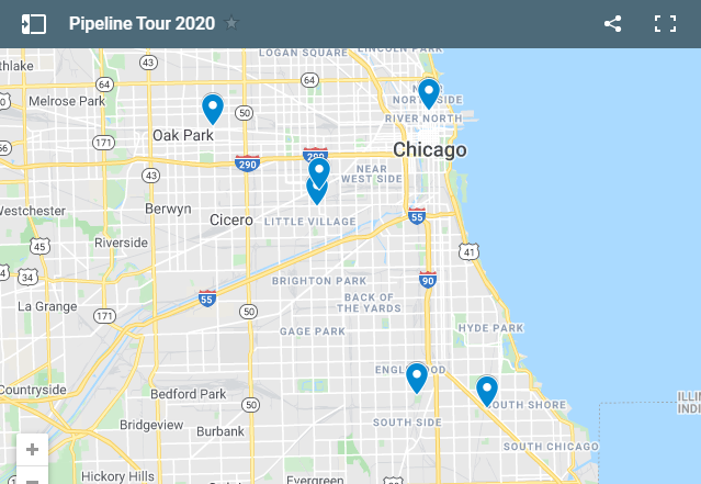 Map of the Pipeline Tour